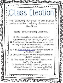 Class Elections Guide