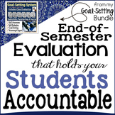 Class Evaluation Form to Hold Students Accountable & Goal-