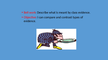 Forensic Science Class Evidence versus Individual Evidence