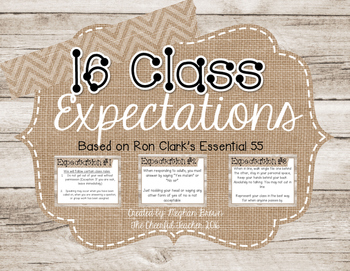 Class Expectation Posters (Burlap and Shiplap)