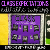 Class Expectations Editable Bunting Banner Decor Signs