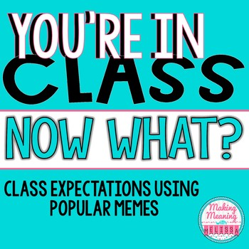 Back to School Class Expectations Using Popular Memes