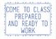 Class Expectations List
