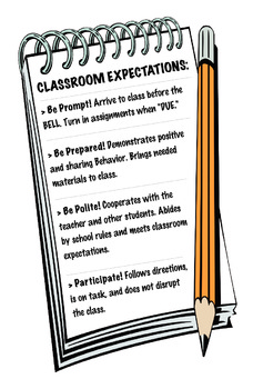 Class Expectations Poster