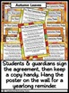 Editable Class Expectations Poster and Contract Middle & H