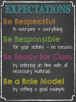 Class Expectations Poster & Worksheet
