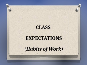 Class Expectations Posters