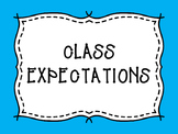 Class Expectations Posters Bright Teal