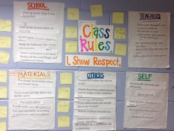 Class Expectations Show Respect Lesson Plans and Materials