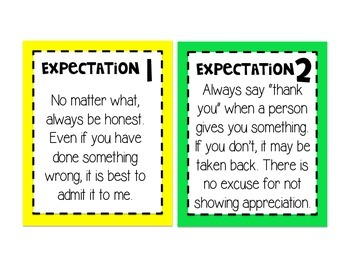 Class Rules and Expectations Ron Clark Style   Brights