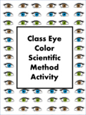 Class Eye Color Scientific Method Activity