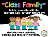 Class Family Sign