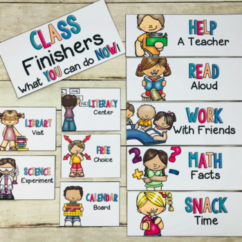 Class Fast Finisher Activity Cards EDITABLE
