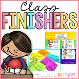 Fast Finisher Activity Cards for Classroom Management - EDITABLE