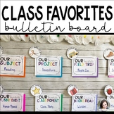 Class Favorites End of the Year Activity and Bulletin Board