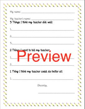 Class Feedback Form