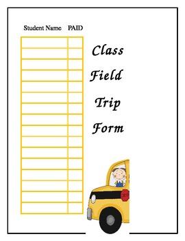 Class Field Trip Form