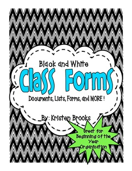 Class Forms (Black and White)