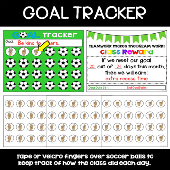 Class GOAL SETTING Poster with Self-Reflection Chart and Goal Tracker