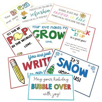 Class Gift Tags