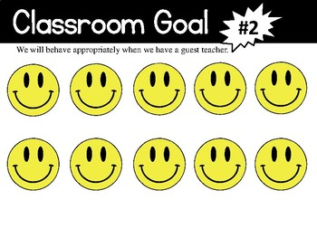 Class Goals Reward Posters