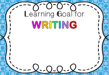 Class Goals And Individual Posters Templates