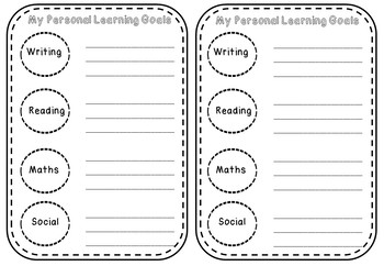Class Goals and Individual Goals Posters and Templates
