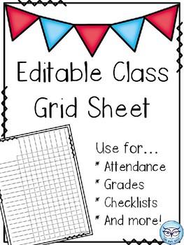 Class Grid Sheet - editable