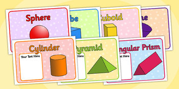 Class Group Signs 3D Shapes