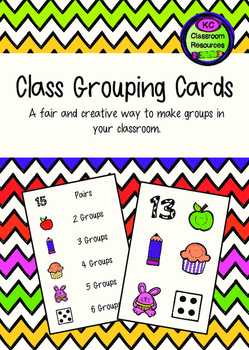 Class Grouping Cards