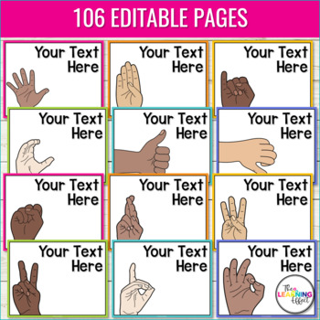 Hand Signals for Classroom Management   Editable