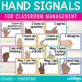 Hand Signals for Classroom Management | Editable
