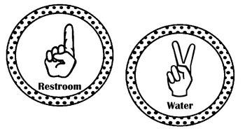 Class Hand Signals - Polka Dots