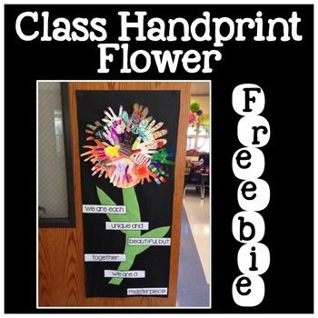 Class Handprint Flower for Display
