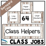 Class Helper Job Chart for Farmhouse Shiplap Decor Theme