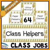Class Helper Job Chart for Pineapple Classroom Decor Theme