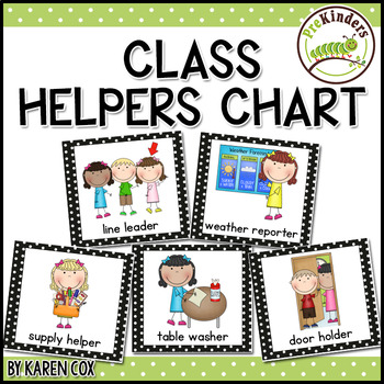 Class helpers chart by karen cox teachers pay teachers