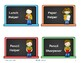 Class Helpers / Jobs / Monitors Chalkboard theme labels po