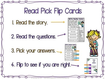Reading Comprehension Passages: Class Jobs Clip Cards for Reading Centers
