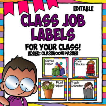 Editable Labels | Class Jobs | Whimsical Decor | Class Helpers