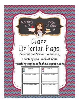 Class Historian Page