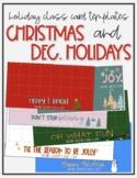 Class Holiday Card Template - CHRISTMAS