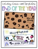 Class Holiday Card Template - END OF THE SCHOOL YEAR