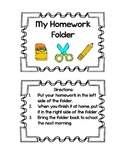 Class Homework Folder Labels