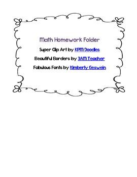 Class Homework Folder Labels