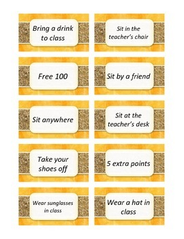 Class Incentive Coupons