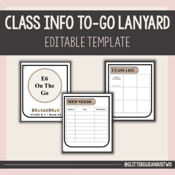 Class Info To Go Lanyard