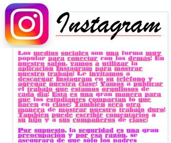 Class Instagram Information Spanish