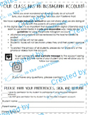 Class Instagram Send Home Parent Form Note