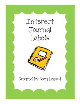 Class Interest Journal Labels